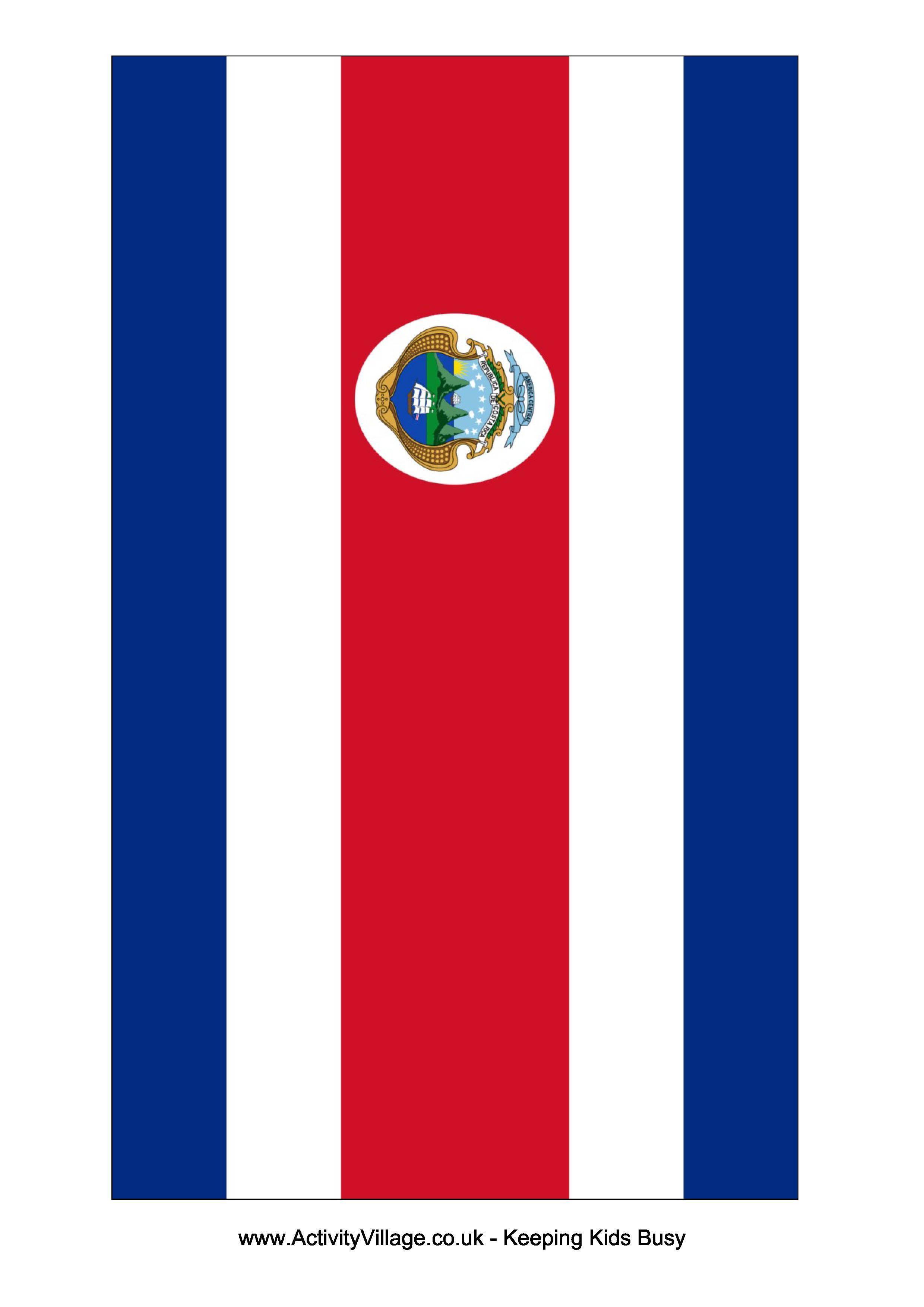Costa Rica Flag Free Printable Costa Rica Flag Costa Rica Flag Flag Template Costa Rica
