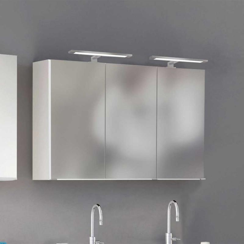 120x64x31 Bad Hangeschrank Mit Spiegelturen Und Led Beleuchtung Asticla In 2020 Bad Wand Led Beleuchtung Spiegelschrank Beleuchtung