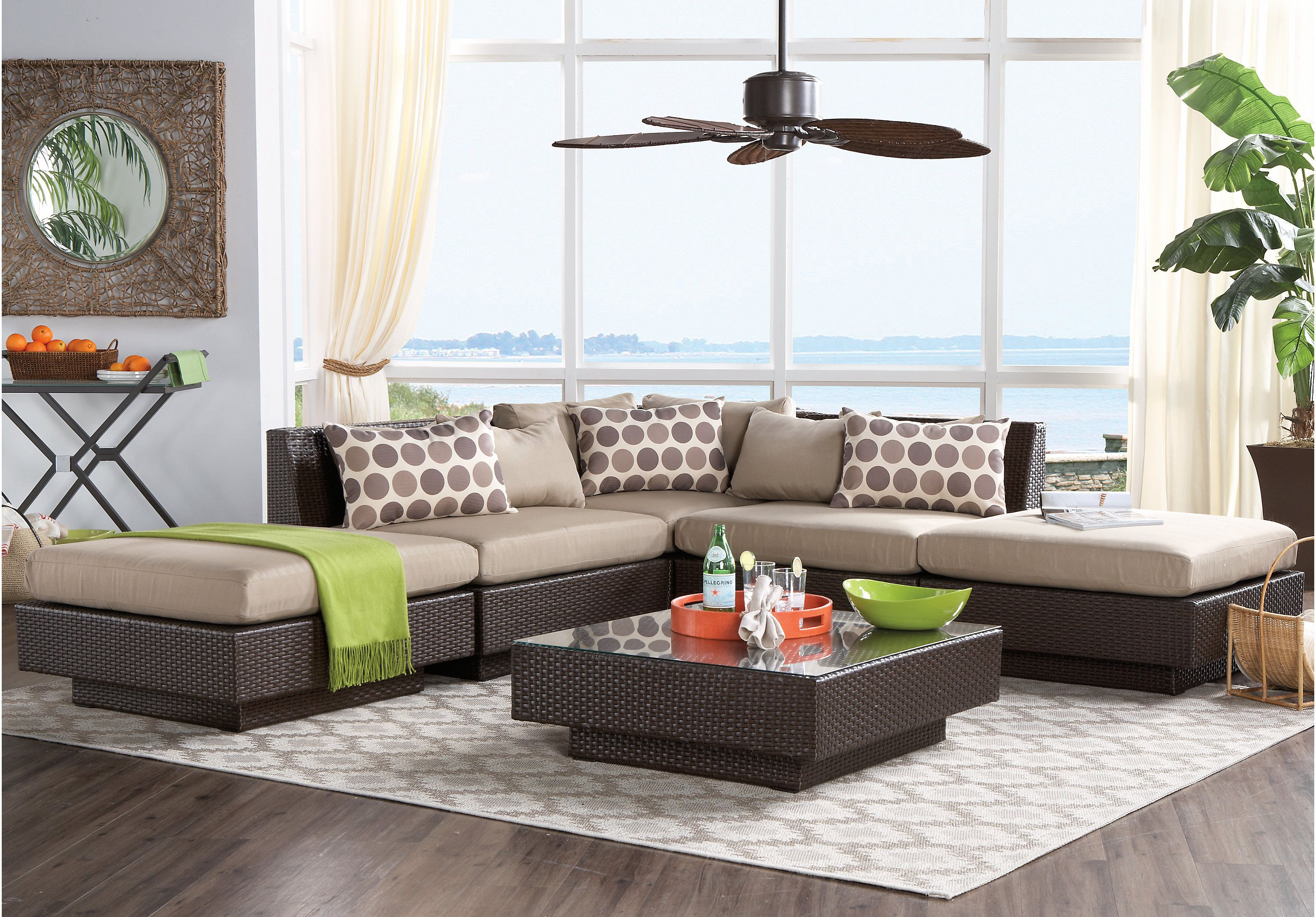 picture of Lakeside Terrace 5 Pc Sectional from Sectionals