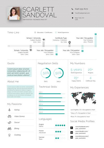 Eldora Infographic resume, Infographic resume template