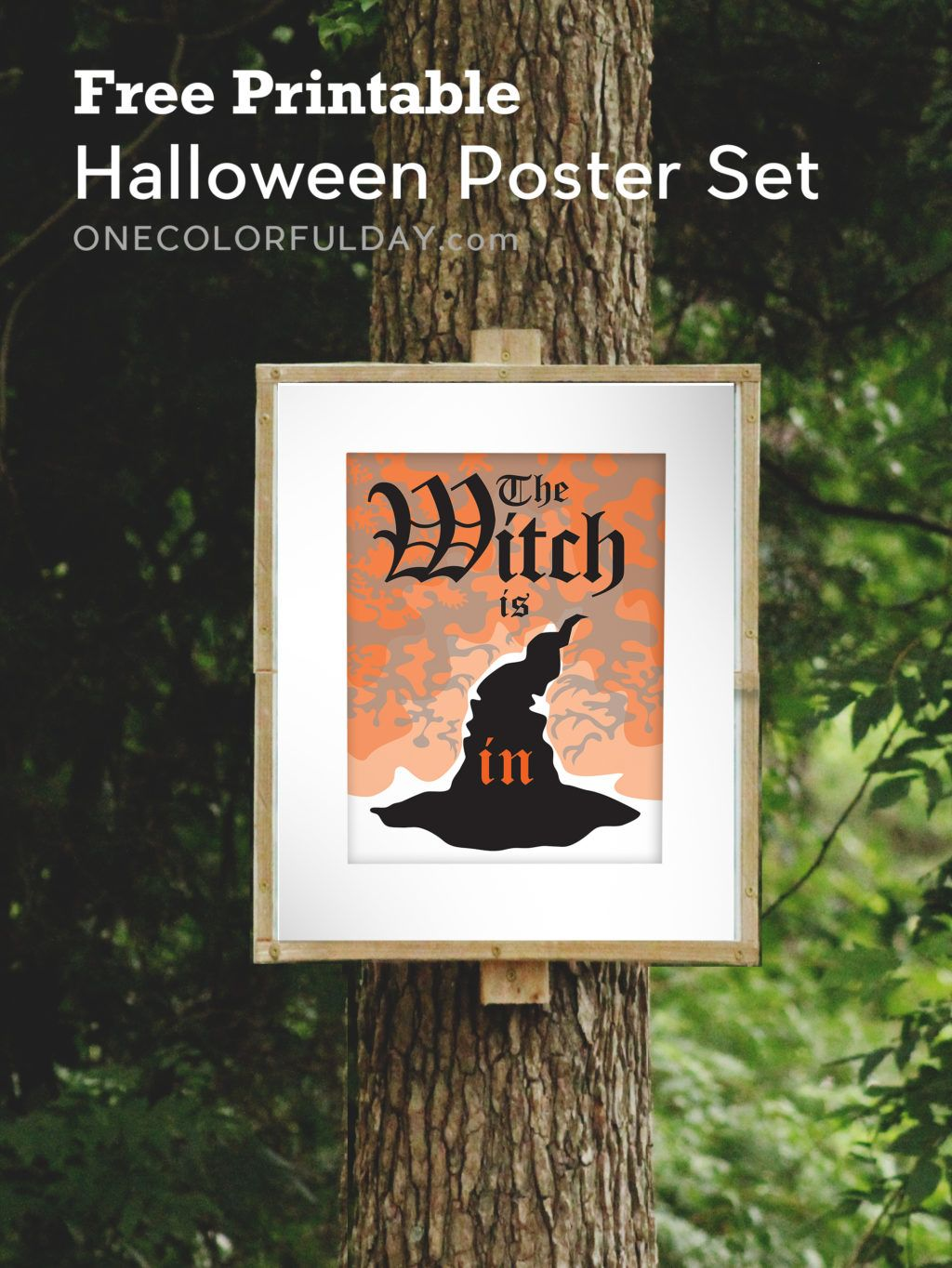 Free Printable Creepy Halloween Posters By One Colorful