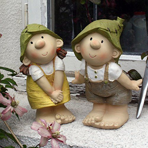 Lilly And Len Elves Standing Garden Ornament Gnome 400 x 300