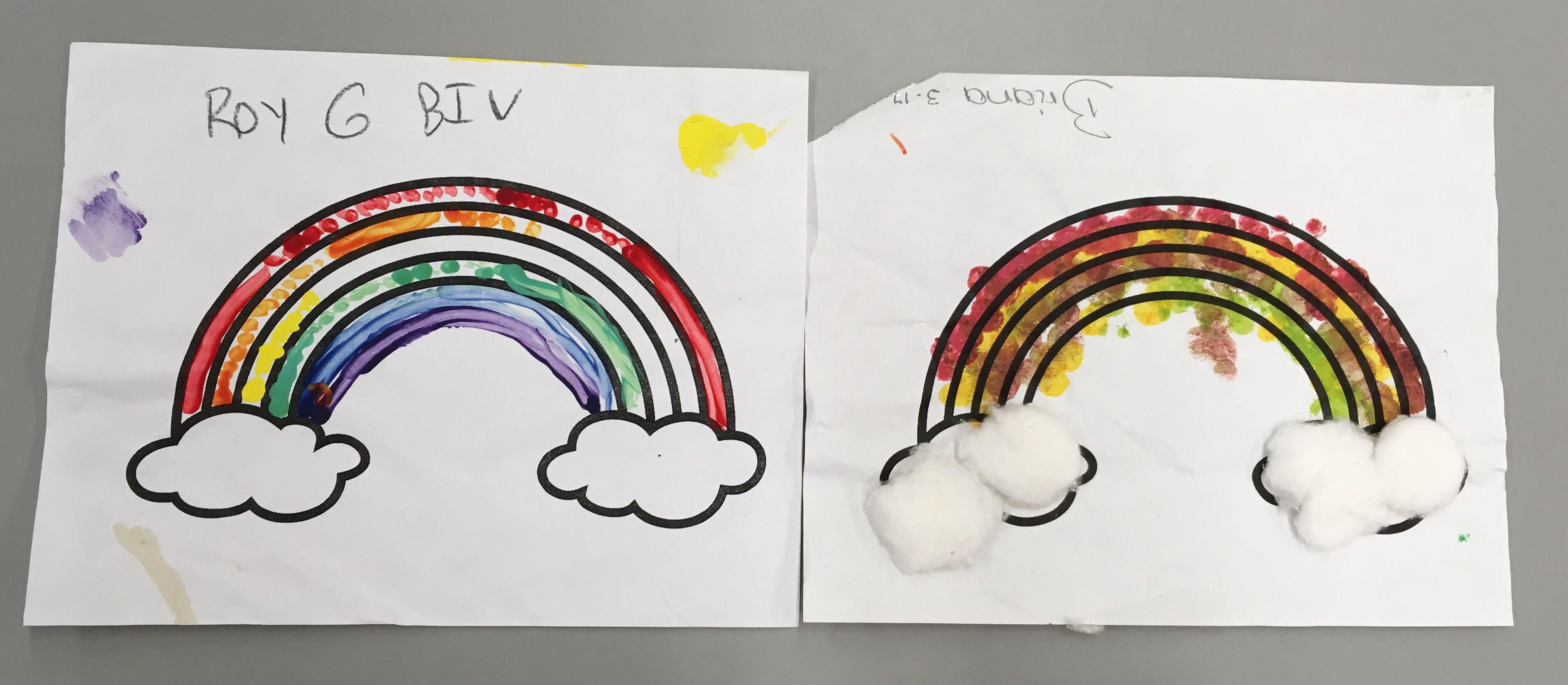 Rainbow Amp Shamrock Art Templates For Crafts Q Tip