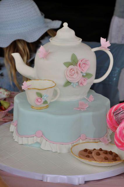 Tea Party Tea Party Party Ideas With Images Teapot Cake Tea