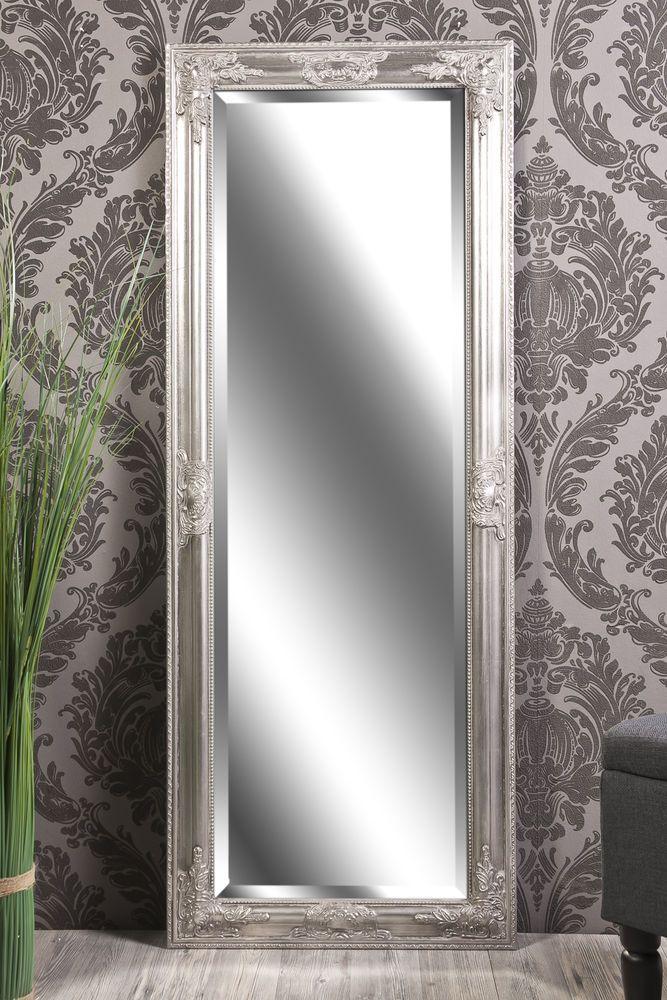 Spiegel wandspiegel badspiegel annabell antik silber barock 130 x 50 cm in m bel wohnen - Dekoration spiegel ...