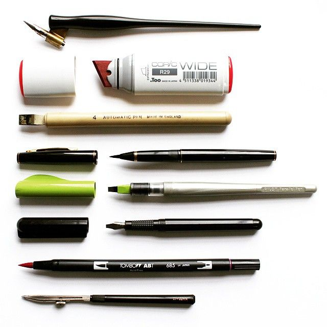 Needs To Start Practice Calligraphy Here Are Some Basic Tools Thanks Seblester For