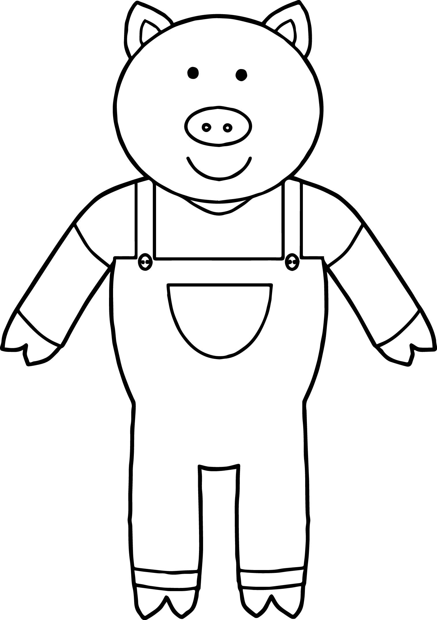 Cool One 3 Little Pigs Coloring Page