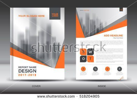 Orange Cover Annual report brochure flyer template creative design - cover template