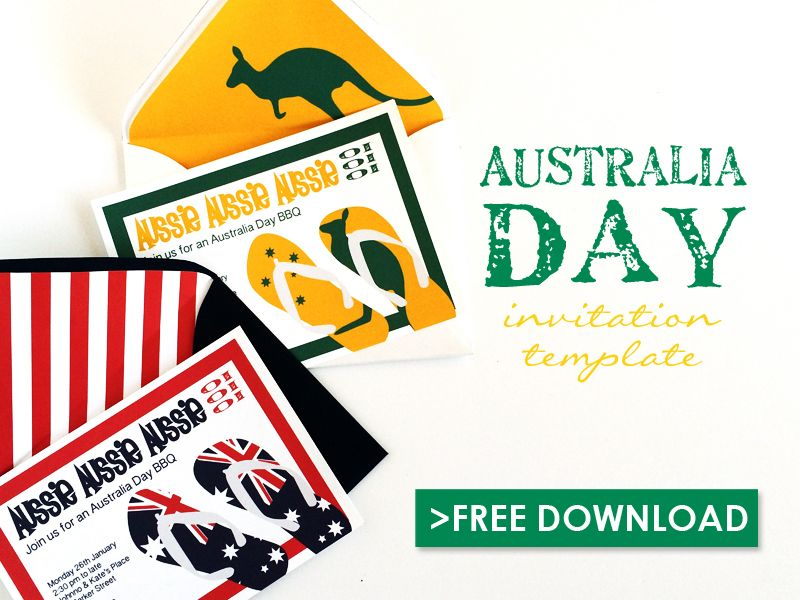 Free Australia Day Invitation Template Download Print – Free Printable Party Invitations No Download