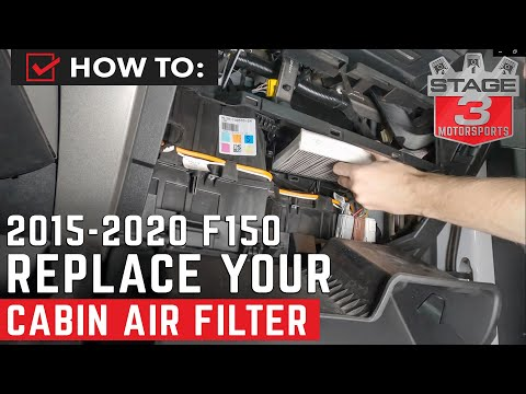 How To Replace 15+ F150, Raptor & F250 K&N Cabin Air