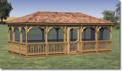 Back Yard Pavilion Plans 20 x 24 | PT Pine Gazebos 14' x 20