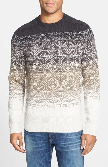 Victorinox Swiss Army 'Fair Isle Ombré' Tailored Fit Wool Blend Enchanting Pattern Def