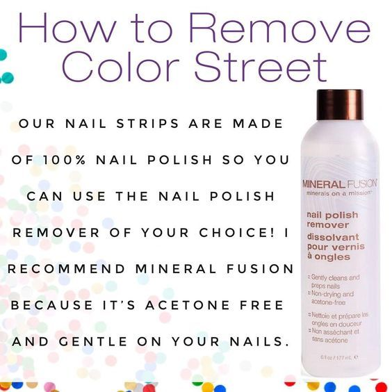 How to remove Color Street Nail Polish strips