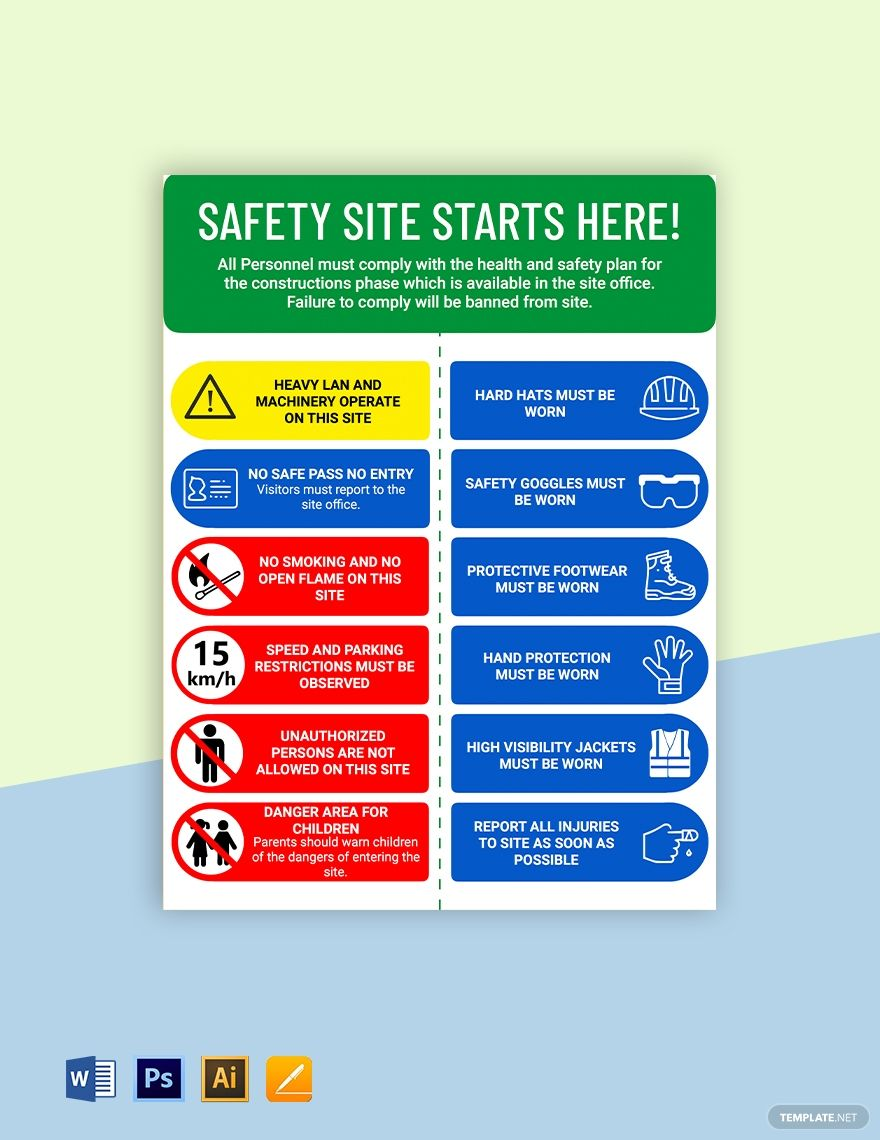 Caution health and safety sign template in 2020 health