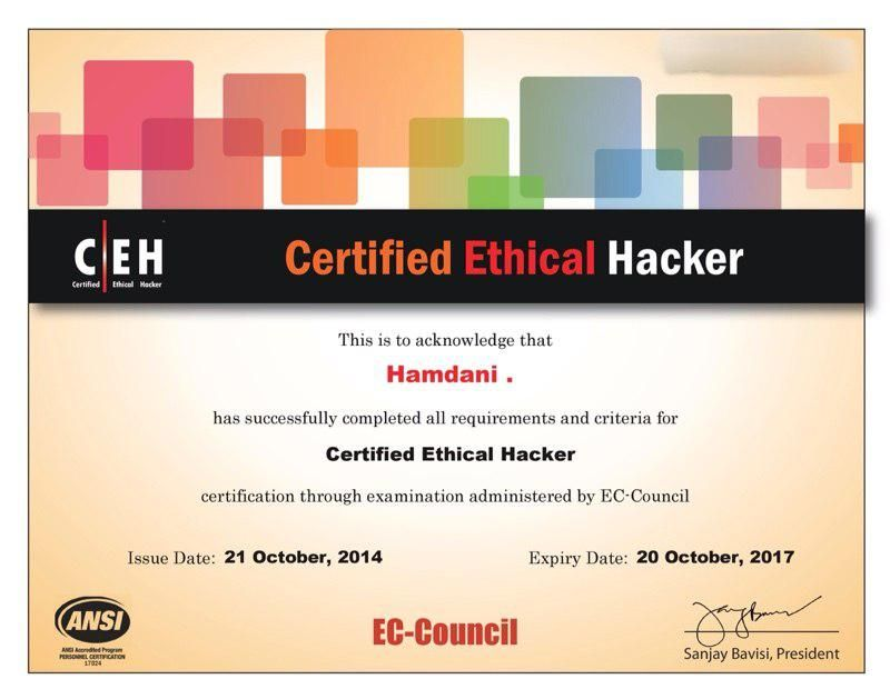 CEH v8 Certified Ethical Hacker Pinterest Resume, Sample