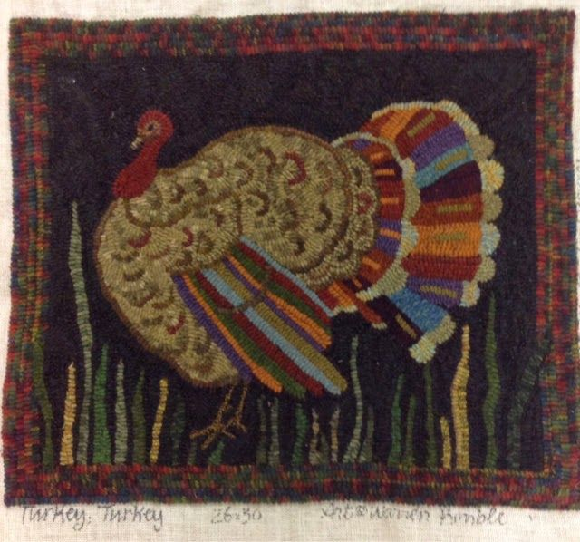 Rug Hooking Turkey 26x30 Warren Kimble Don T Know Who Hooked This But It S Wonderful Love The Color