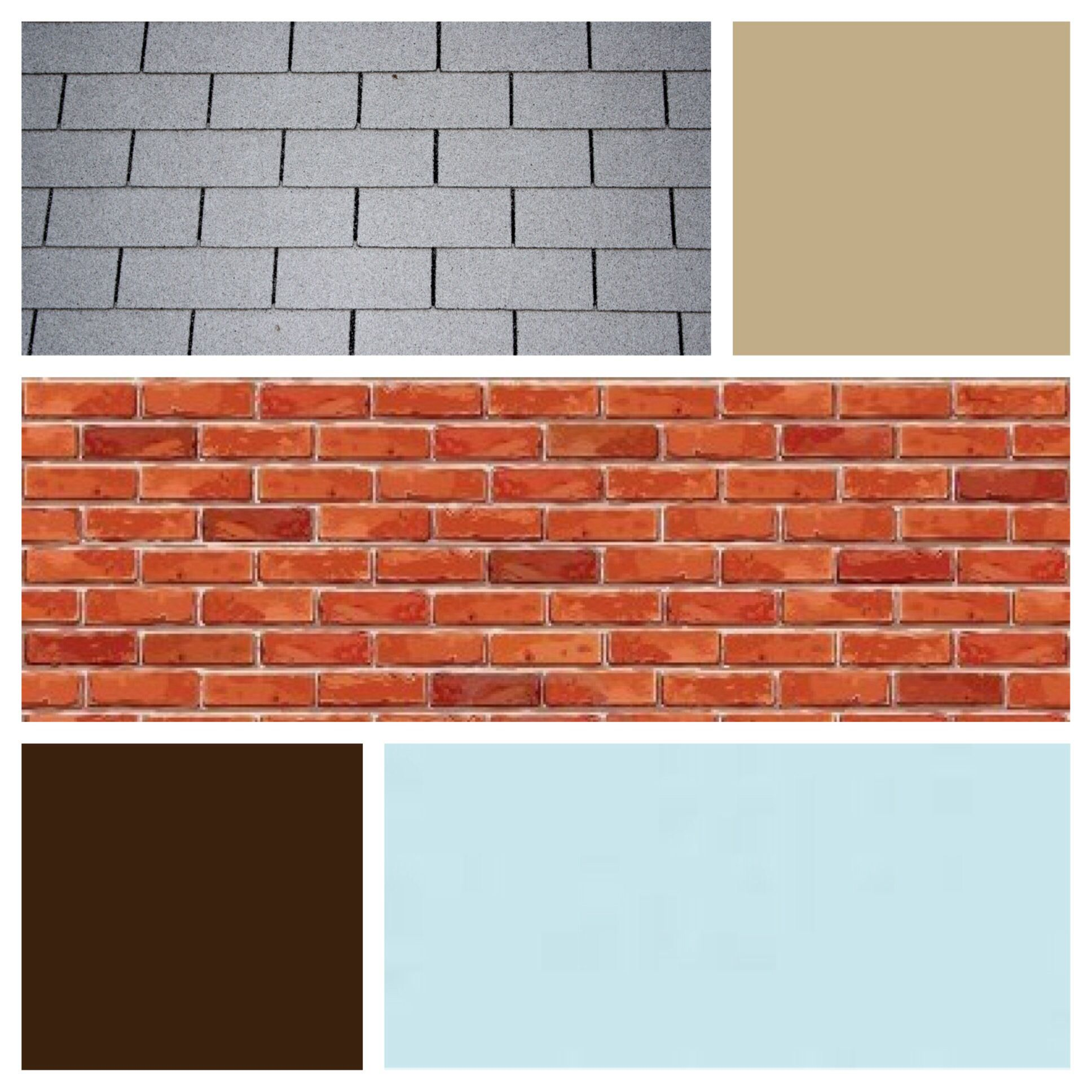Exterior Color Scheme For Red Brick And Gray Roof Sky