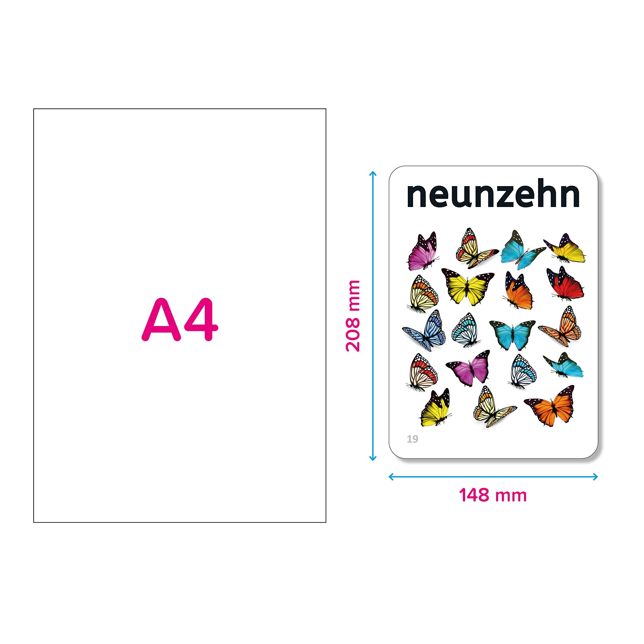 Numbers In German Write Wipe Flashcards With