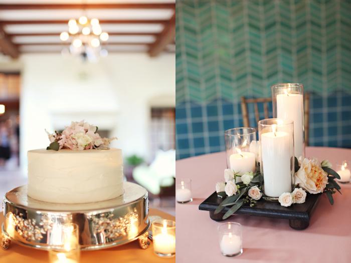 wedding cake centerpiece candles whitebox photography Graylyn