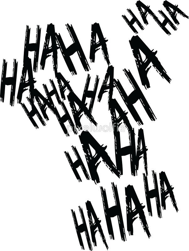 'HAHA' Sticker by pixelwolfie | 图案 | Pinterest | Joker, Iphone cases and Haha
