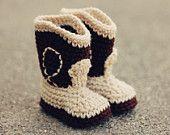 Cowboy Baby Booties, Baby Booties.