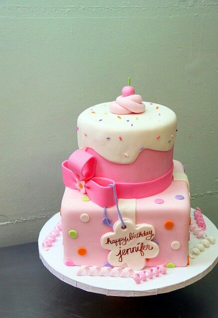 Cute And Simple Cake Happy Birthday Jennifer Pretty Cakes Girls