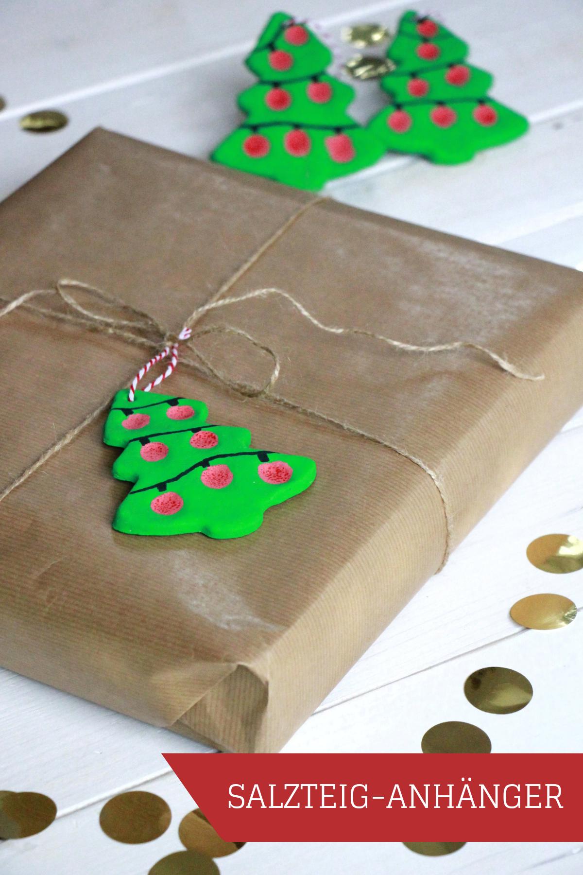 Bastelidee f r weihnachten geschenkanh nger und - Tannenbaumschmuck basteln mit kindern ...