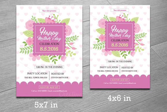 MotherS Day Flyer TemplateV  Winkels Moeders En Moederdag