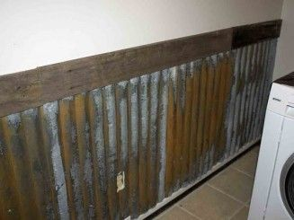 Rusted Metal Fence