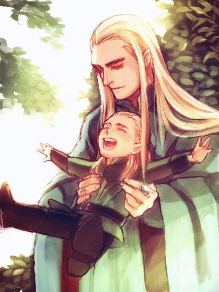 Giggling Little Legolas and his doting Ada Thranduil в 2019 г.
