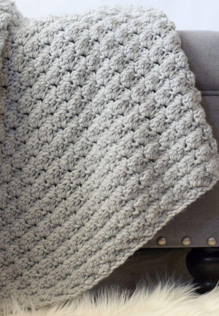 Simple Crocheted Blanket Go – To Pattern | Manta y Bebé