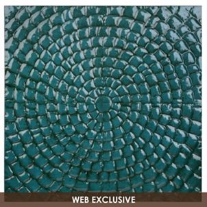Teal Blue Pixel Wall Plaque