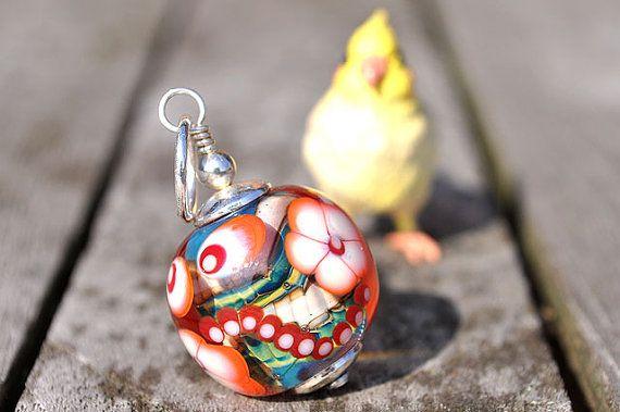 FLOWER POWER  Lampwork Beads by petrajanssen von petrajanssen, $20,00
