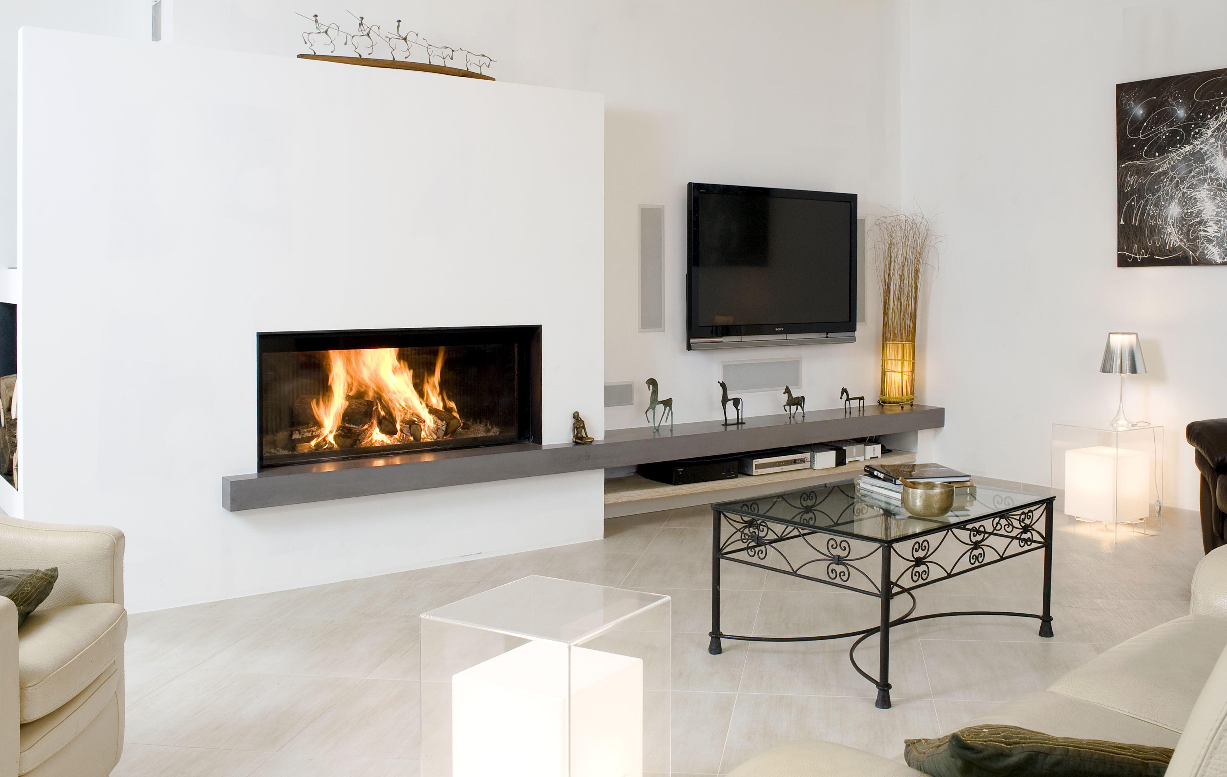 Metalfire 1300 50 tablette b ton cir cmg metalfire foyer bois pinterest - Beton cire pour cheminee ...