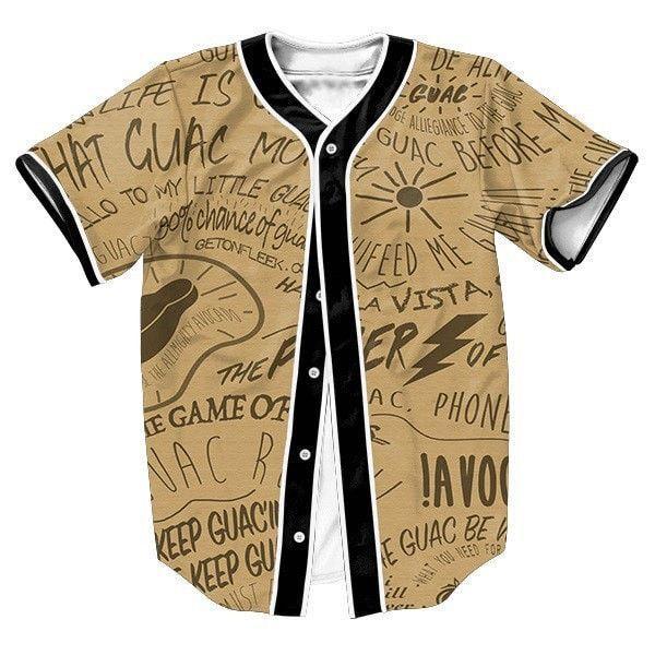 Guac money mens baseball jersey casual shirt s 3xl mens baseball guac money mens baseball jersey casual shirt s 3xl malvernweather Choice Image