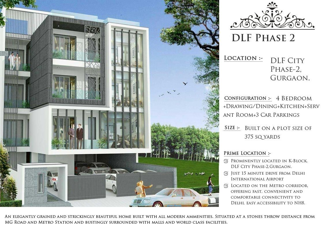 Available 4 Bhk Builder Floor For Sell In Dlf Phase 2 Dlf Phase 2 Gurgaon Gurgaon Bedroom Drawing Builder