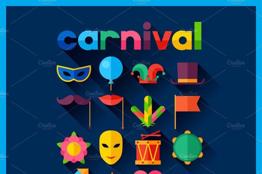 Photo of Backgrounds with carnival icons. , #Ad, #backgrounds#festive#Celebration#carniva…