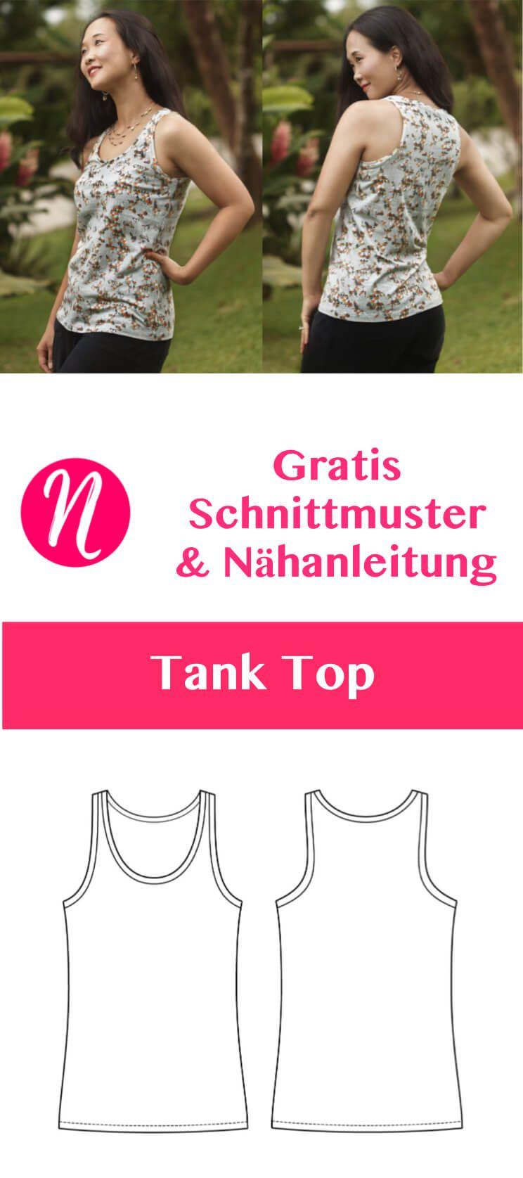 Tank Top für Damen | Szabásminták, Női divat és Kiegészítők