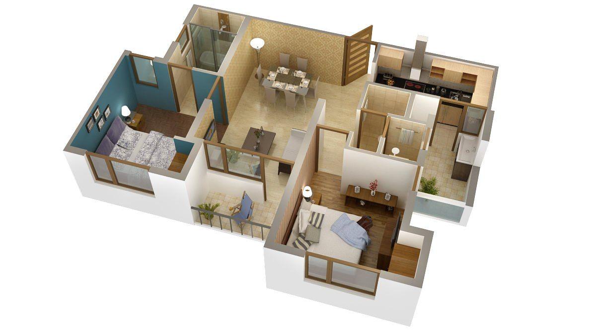 3D Floor Plan Rendering Done by Digital Illusion Studio