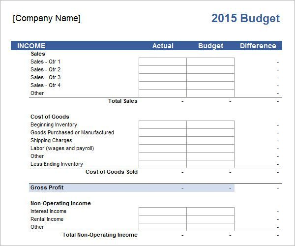 Budget Spreadsheet Template Excel With Images Business Budget