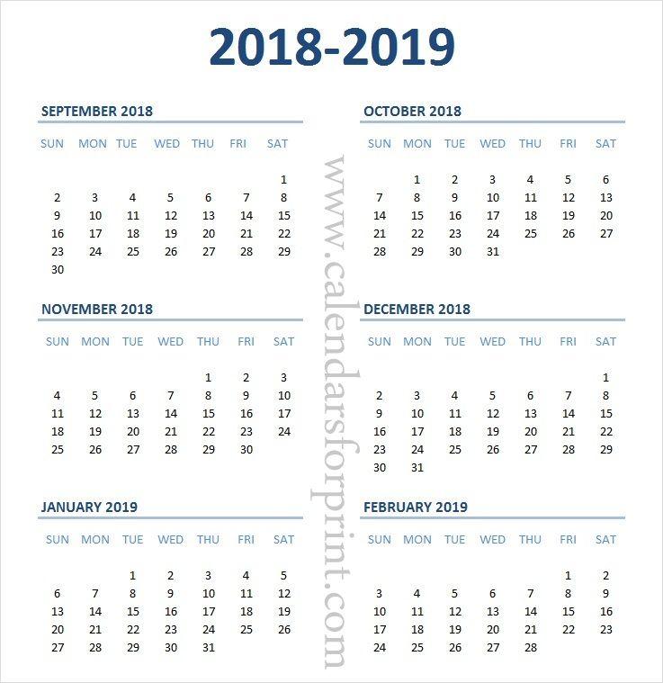 1 September 2019 To 31 December 2019 Calendar Print Calendar September October November December 2018 January