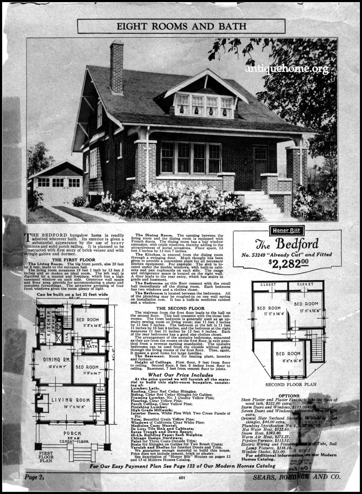 Sears Roebuck Kit House The Bedford Bungalow House Plans Craftsman House Plans Vintage House Plans