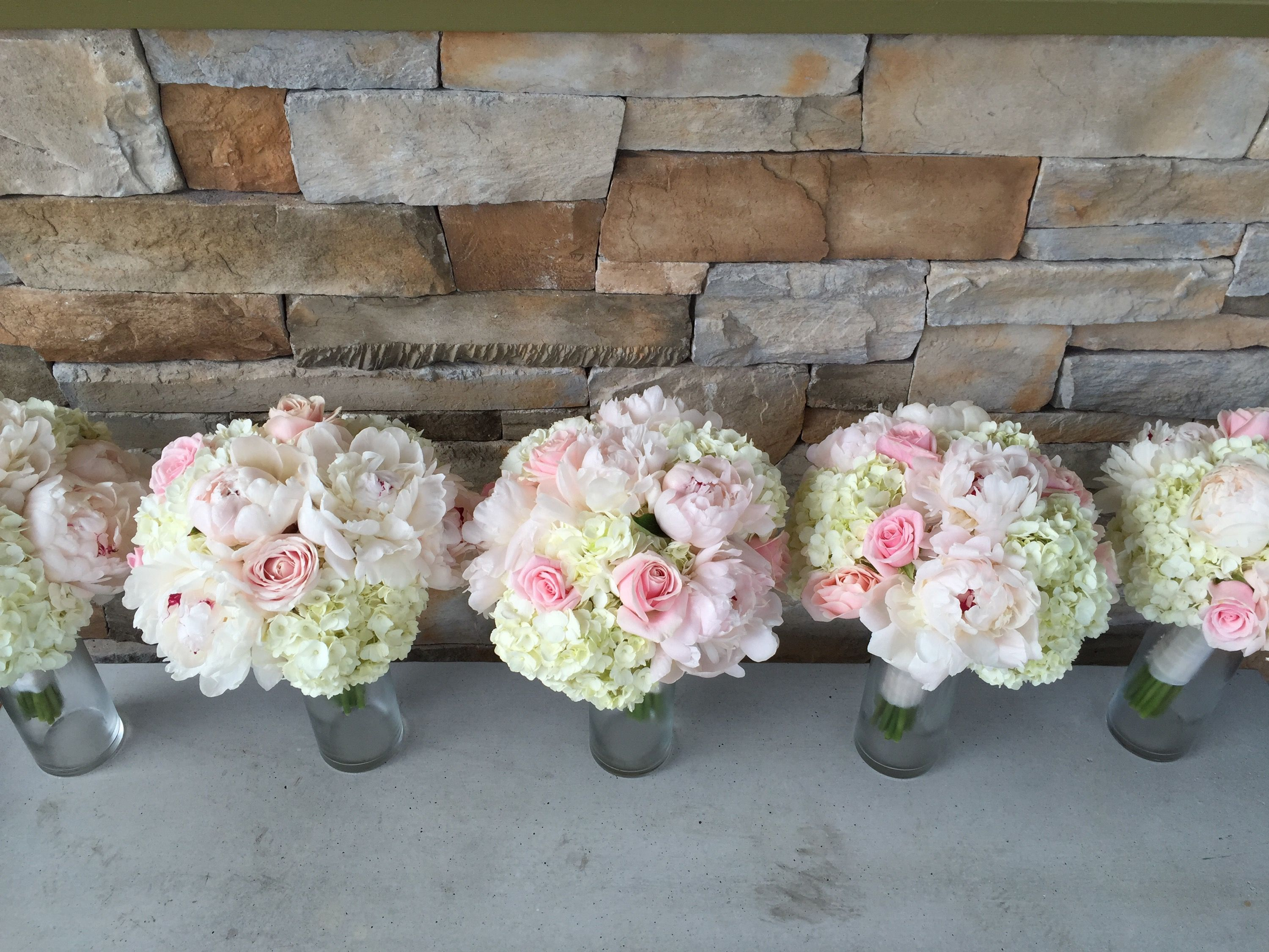 Pink Garden Rose And Hydrangea Bouquet hot pink garden rose bouquets | the real flower company ruby 40
