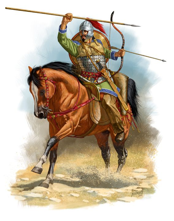 Roman horse archer VI century CE, by Johnny Shumate