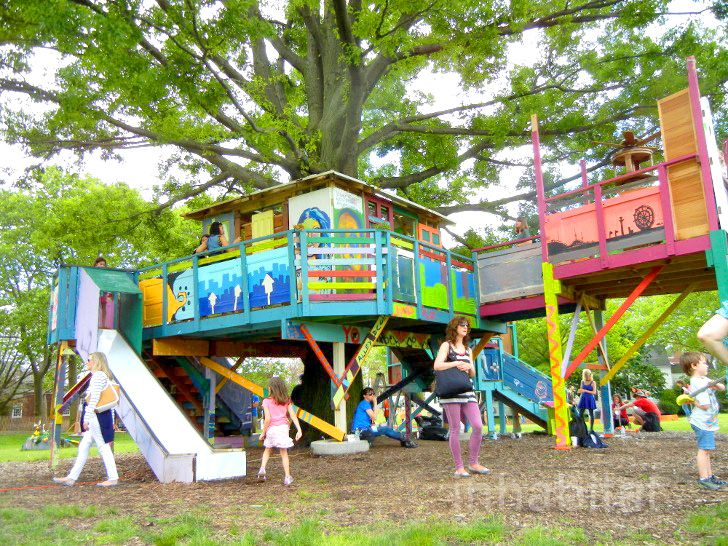 Benjamin Jonesu0027 Technicolor TreeHouse Returns To Governors Island [PHOTOS]