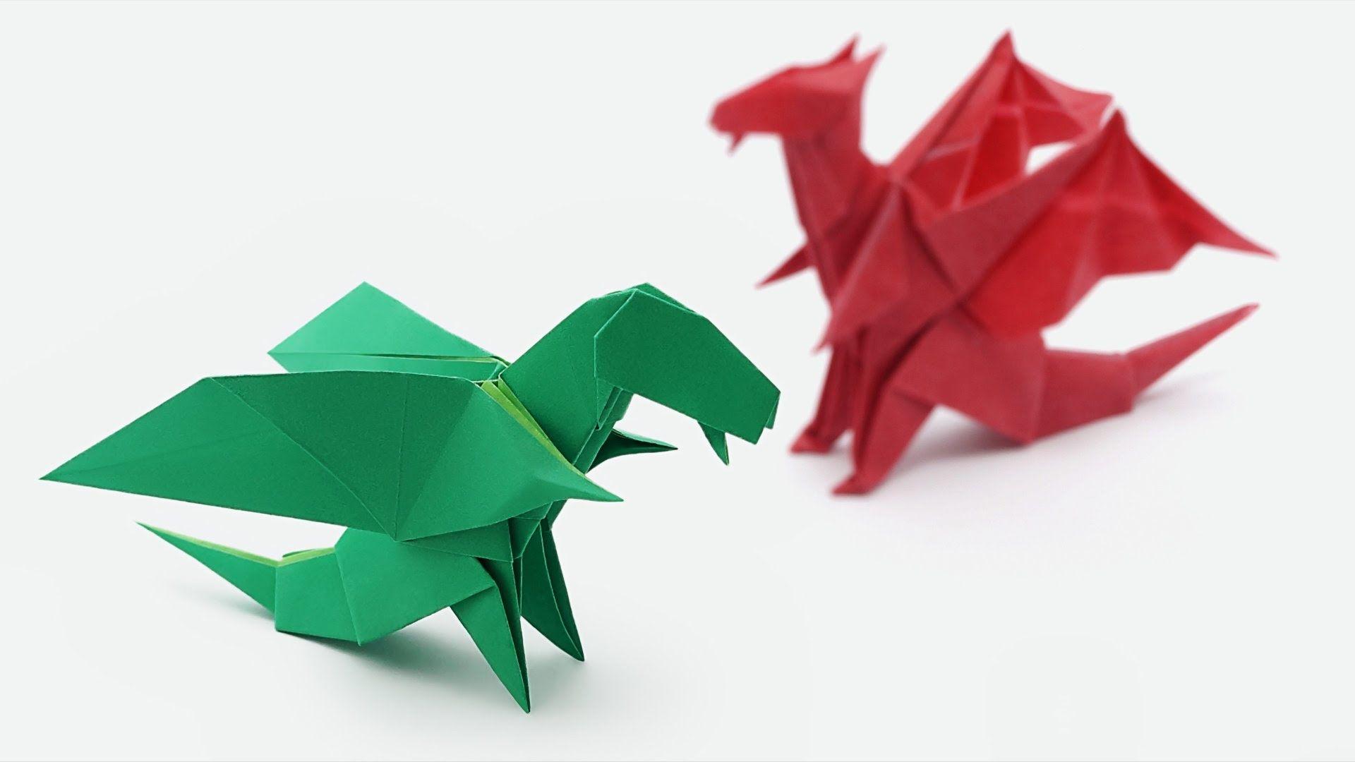 Origami Chibi Dragon Jo Nakashima Origami Easy Easy Origami Dragon Origami Dragon