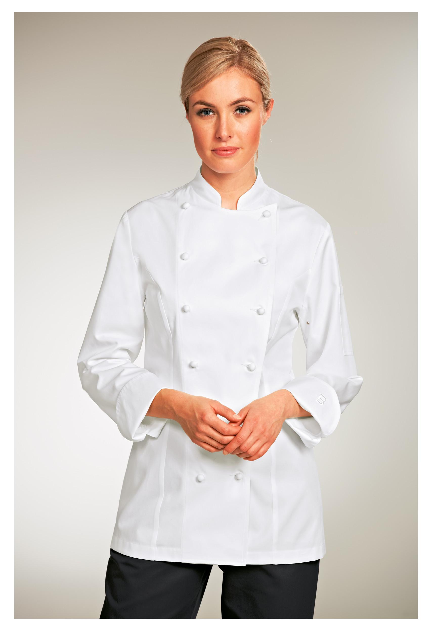chaqueta de cocinero manga larga mujer
