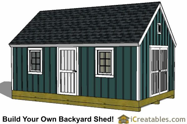 12x20 Colonial Style Shed Plans Diy Shed Plans 12x20 Shed Plans Building A Shed