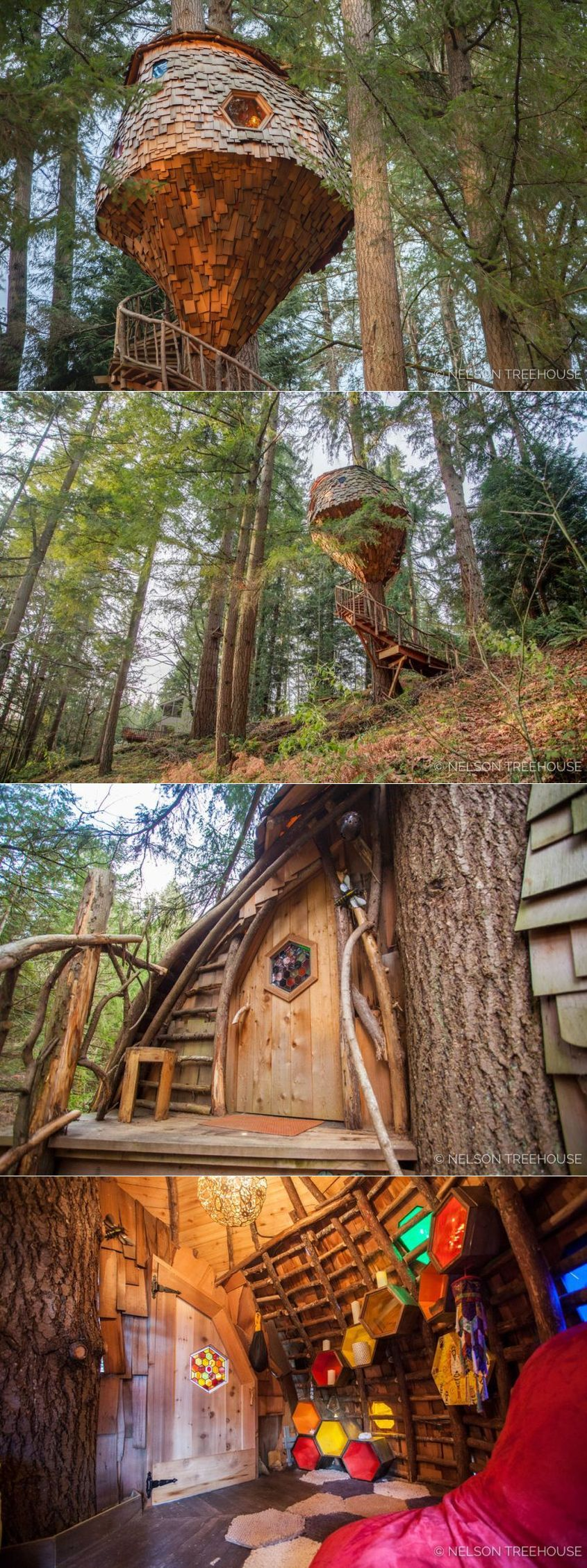 Beehive Treehouse by Pete Nelson is a Whimsical Masterpiece! #treehouse #treehousehotel #treehouseresort #getaway