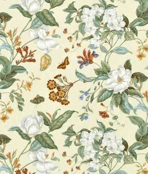 Waverly Garden Images Parchment Fabric Fabric Decor Floral